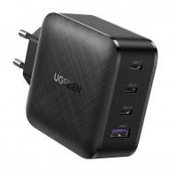 Зарядное устройство Ugreen GaN 65W CD224 (8 А, 3 x Type-C + USB PD QC3.0 QC4.0)