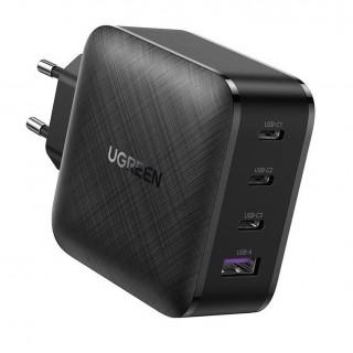 Зарядное устройство Ugreen GaN 65W CD224 (8 А, 3 x Type-C + USB PD QC3.0 QC4.0). Фото.
