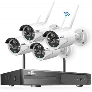 Система видеонаблюдения Hiseeu (8CH) + 4 IP камеры. Фото.