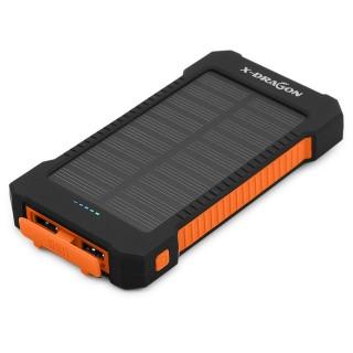 Внешний аккумулятор X-Dragon (15000 мА·ч, солнечная панель, IPх4). Фото.