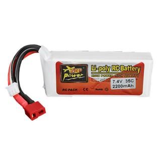 Аккумулятор ZOP Power (2S, 2200 мАч, 35C, T-plug). Фото.