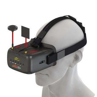 "FPV шлем Eachine VR D2 Pro (5.0"", 800x480, 40 каналов, Diversity). Фото."