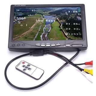 """FPV монитор (7"""", 1024x600, 48 каналов, NTSC/PAL). Фото."""