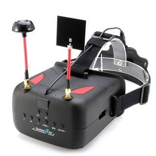 "FPV шлем Eachine VR D2 (5.0"", 800x480, 40 каналов, Diversity). Фото."