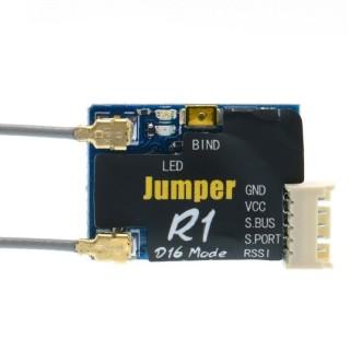 Приёмник Jumper R1 (Frsky D16, Sbus, 16 каналов). Фото.