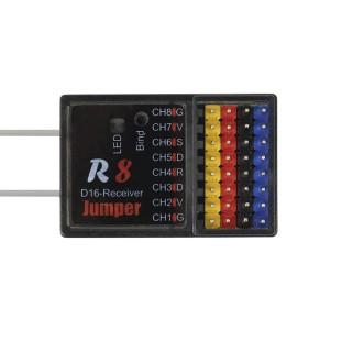 Приёмник Jumper R8 (Frsky D8 D16, Sbus, 16 каналов). Фото.