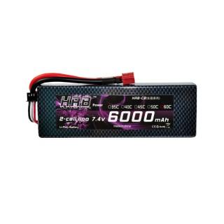 Аккумулятор HRB (2S, 6000 мАч, 60C). Фото.