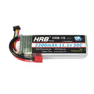 Аккумулятор HRB (3S, 2200 мАч, 30C). Фото.
