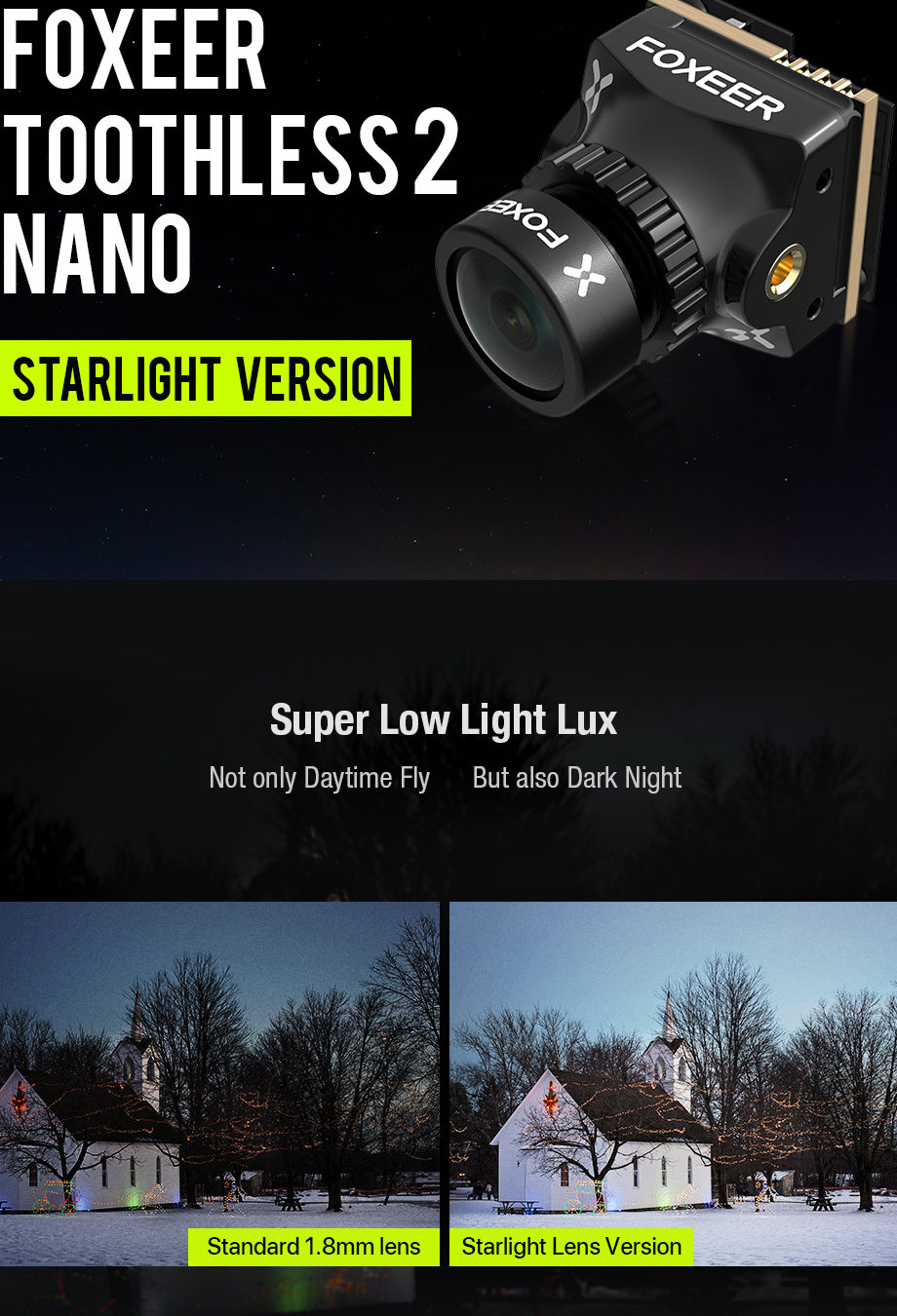 Foxeer Nano Toothless 2 StarLight
